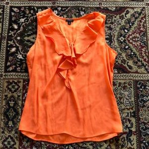 Ann Taylor orange silky blouse
